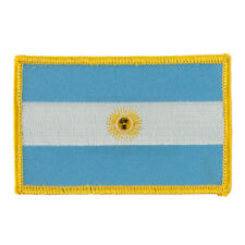 """ARGENTINA FLAG EMBROIDERED PATCH - IRON-ON - NEW 2.5 x 3.5"""" FREE SHIPPING"""