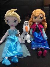 Disney Frozen Elsa Anna Singing Plush Doll Tall Avon Pillow Olaf Christmas Gift