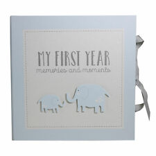 My First Year Record Book Petit Cheri Collection Gift - Blue Baby Boy