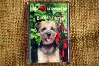 Border Terrier Dog Gift Dog Fridge Magnet 77x51mm Birthday Gift Mothers Day Gift