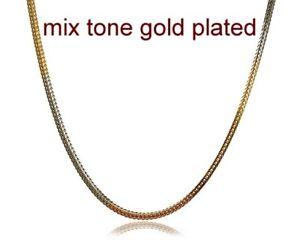 0.4cmx61cm three tone necklace chain