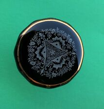 """2"""" Dia. Black Antique Porcelain Crystal Cabinet Knob Drawer Pull French Empire"""