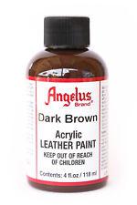 Angelus Brand Acrylic Leather Paint Waterproof Dark Brown - 4.oz