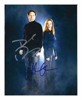 X-FILES - DAVID DUCHOVNY & GILLIAN ANDERSON SIGNED A4 PP POSTER PHOTO