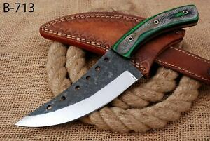 """10"""" Custom Hand Forged Railroad High Carbon Steel Hunting Butcher Knife (713)"""