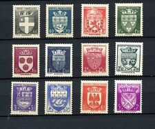 France #B135-B146 (FR531) Comp 1942 Arms Various Cities, M,VLH,FVF,CV$42.00