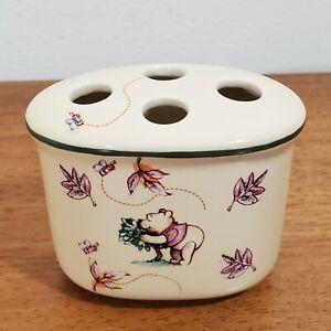 Vintage Disney Winnie The Pooh Eeyore Porcelain Bathroom Toothbrush Holder