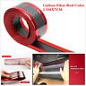 2.5mx7cm Car SUV Scuff Plate Door Sill Strips Protector Bumper Corner Guard Red