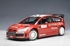 1/18 Autoart Citroën C4 WRC 2007 S. Lagrow/d. Elena #1 Gangant