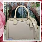NWT Coach F67414 - IVIE BENNETT Satchel In GREY BIRCH Pebbled Embossed Leather