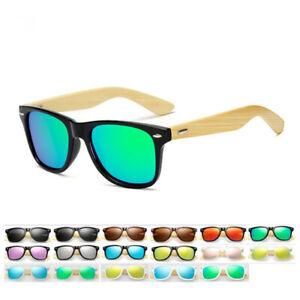 Unisex Bamboo Polarized Sunglasses Fashion Women Men Wooden UV400 Protection