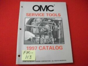 1997 OMC EVINRUDE JOHNSON OUTBOARDS SERVICE TOOLS CATALOG EXCELLENT CONDITION