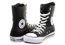 Converse Black Leather Hi-Rise 9-Eye Ankle Calf Boots / Shoes Wms 5 NWOT DISC