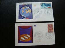 FRANCE - 2 enveloppes 1er jour 1968 (exp polaires/lits blancs) (cy71) french