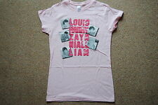ONE DIRECTION NAMES PINK LADIES SKINNY T SHIRT NEW OFFICIAL HARRY NIALL LIAM 1D