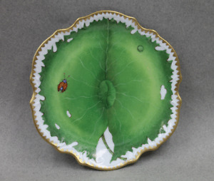 Anna Weatherley China Green Leaf Bread & Butter Plate Ladybug