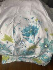 Tahari Home Printemps Watercolor Shower Curtain Teal Aqua Lime Green