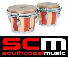 "Mano Percussion MP714 7&8"" Bongo Drums Pair Natural Hide Skins Bongos 7/8 Inch"