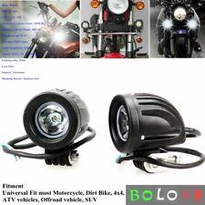 2X 10W Motorcycle Atv Led Headlight Driving Fog Light Blub Spot Lamp For Harley (Fits: Bourget's Bike Works)