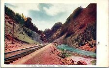 Railroad Postcard Boulder Creek near Rollinsville Moffat Road Colorado Rd CO