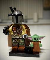 Star Wars Mandalorian With Baby Yoda Boba Fett Lego MOC