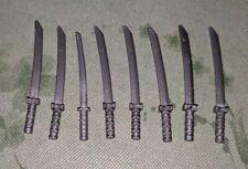 Lego Lot Of 8 Weapon sword Katana Shamshir Silver For Minifigure Ninja Ninjago