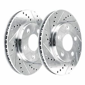 [FRONT KIT]  2 Platinum Hart *DRILLED & SLOTTED* Front Disc Brake Rotors - 2812
