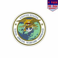 United States Naval Special Warfare Command 4 pack 4x4 Inch Sticker Decal