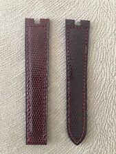 Genuine  Cartier  Brown Leather  Watch Strap 15-14 mm