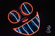 Neon 2-Color Cheshire Cat Rave Party Halloween Costume Vendetta DJ Handmade Mask
