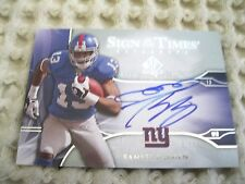 Ramses Barden RC 2009 SP Authentic Sign of the Times Auto Rookie Card-Giants WR