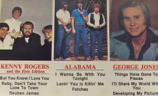 Kenny Rogers And The First Edition George Jones Alabama Cassette 1982