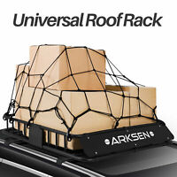 "Heavy Duty 43"" Roof Rack With Cargo Net Top Carrier 150 lbs Capacity, Black"