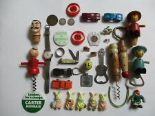 New ListingVintage Junk Drawer Lot - Watch Coins Tootsie Toy Political Knife Sterling &More
