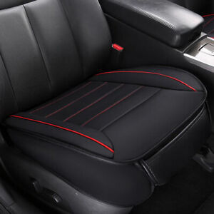 Black PU Front Car Seat Cover Protector Non-Slip Breathable Mat Chair Cushion
