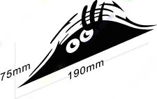 Car Bumper/ Window/ Body/ Laptop/ etc Vinyl Decal Sticker PEEKING MONSTER Black