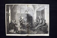 Seduta Consiglio municipale in un villaggio della Catalogna Incisione del 1885