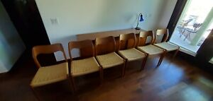 Neils Moller Vintage Teak Danish dining chairs set of 6 great condition