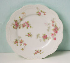 "Haviland Limoges Salad Pates (5), Pink Roses,  7"" Diameter"