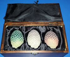 Game of Thrones Dragon Egg Prop Replica Set Wooden Box Daenerys Targaryen Eggs