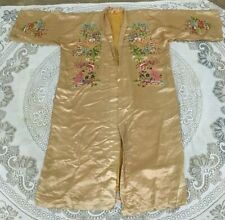 136 Antique Chinese Hand Embroidery Qing Dynasty Jacket Robe Textile Coat