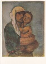 """Postcard - Pierre Paulus """"mother with child"""""""