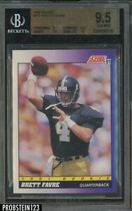 1991 Score #611 Brett Favre Atlanta Falcons RC Rookie HOF BGS 9.5 w/ 10