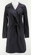 Kenneth Cole Sz S Black Cotton Nylon Reversible Belted Trench Coat E115