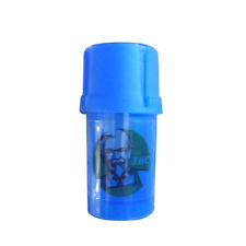 1 X THC 3 Layers Plastic Tobacco Herb Spice Grinder w/ Storage Container - Blue