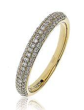 18CT YELLOW GOLD 0.40CT GSI DIAMONDS HALF ETERNITY LADY RING GOY159