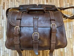 Saddleback Leather Classic Briefcase - Extra large, dark brown.