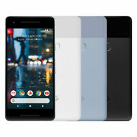 Fully Unlocked Google Pixel 2 | 64GB 128GB | Black White Blue (CDMA+GSM)