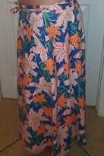 The Lilly ~Lilly Pulitzer Inc Wrap Around  Skirt  Beautiful Floral 1970's Vtg 🌼