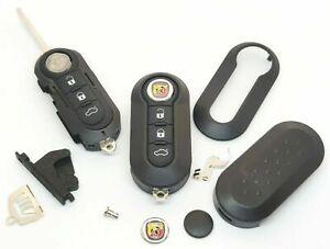 Kit Guscio Telecomando Completo Chiave FIAT Punto ABARTH 500 595 695 + LOGO